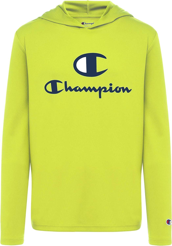 Champion Kids Long Sleeve Hooded Shirt   Lightweight   Boys Clothes   Activewear