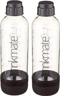 Drinkmate 1L Carbonating Bottles - Black (2 Pack)