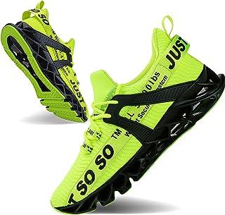JSLEAP Mens Runing Shoes Walking Non Slip Blade Type Sneakers
