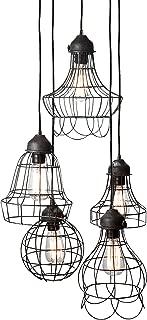 Gilded Barn 225031 Lazy Susan Wire Five Pendant Lamp, Medium, Black