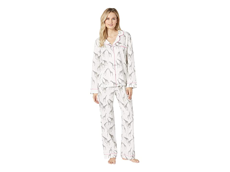 BedHead Long Sleeve Classic Notch Collar Pajama Set (Love At Great Heights) Women