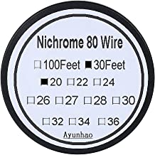 Nichrome 80 wire - 30 ft 20 Gauge AWG Resistance Wire 0.81mm 20g