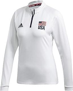 adidas womens Usav 1/4 Zip W Shirt