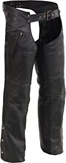 Milwaukee Leather Chaps with Cool Tec Leather & Zippered Thigh Pockets