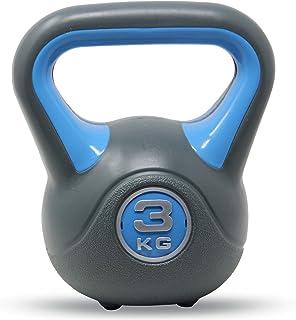 POWRX Kettlebell 2-20 kg - Ideale per Esercizi di »Functional Fitness« - Base con Gommini Antiscivolo & Presa Antiscivolo ...