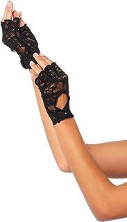 Leg Avenue Women's Lace Keyhole Fingerless Gloves