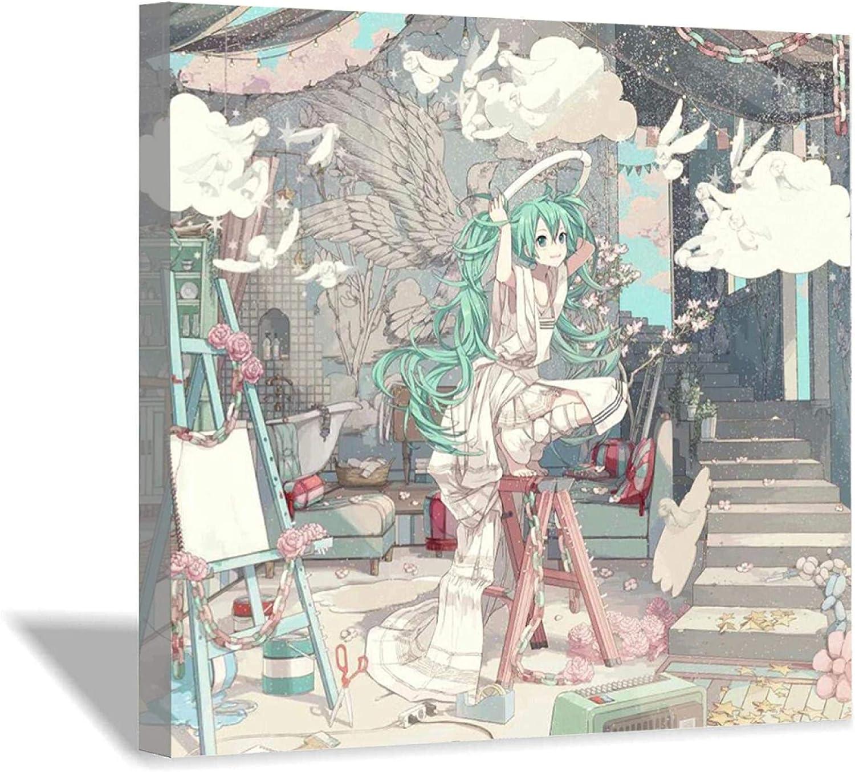 Lakabara Hatsune Miku Canvas Art Living Chil Bedroom Room Poster 5 ☆ popular Popular product