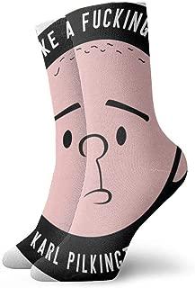 K-arl Pilk-in-gton Art Patterned Casual Socks Soft For Men Women