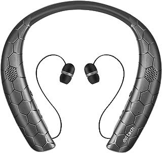 2019年進化版 ネックスピーカー Bluetooth5.0搭載で低遅延 CVC6.0機能でクリアなサウンドを再生 首掛け式&ハンズフリー 着信を振動でお知らせ IPX4防滴仕様 10時間以上連続再生 わずか200g超軽量
