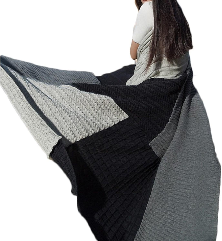 WAVENI Tissu Coton Coton Coudre Couverture Couverture En Laine Couverture Canapé Serviette (Couleur   Navy, Taille   130cm170cm)