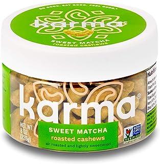 Karma Nuts Sweet Matcha Cashews | 8 Ounce Reusable Jar | Whole, Roasted, Vegan, Non Gmo, Gluten Free, Low Carb, Low Calori...