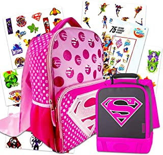 Supergirl Backpack and Lunch Box Set ~ Includes Deluxe 16