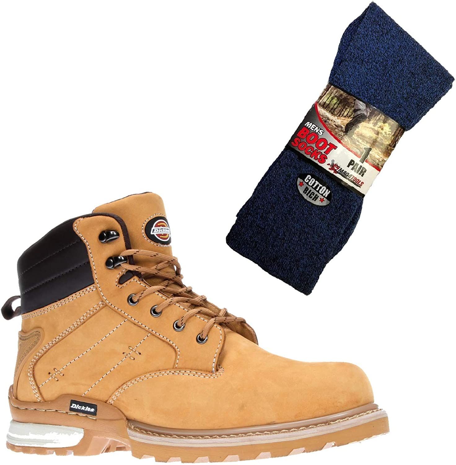 Dickies Men's Canton Safety Boots and Boot Socks
