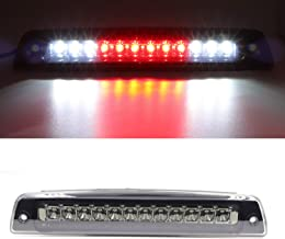 Hight Mount Stop Light Third 3rd Brake Reverse Lights LED Lamp Replacement For 1994-2001 Dodge Ram 1500 2500 3500 Cargo Lights (electroplate Cover Smoke Lens)