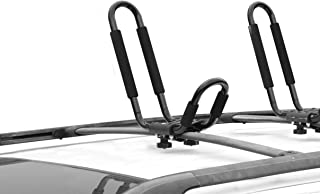 CargoLoc 2-Piece Universal Roof Top Mounted Kayak Paddle Board Canoe Boat and Lumber Carrier – Designed to Fit Most Roof Top Cross Bars – Easy Installation