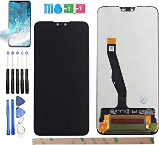 HYYT Replacement for Huawei Y9 2019 JKM-LX1 JKM-LX2 JKM-LX3 LCD Display Touch Screen Digitizer Assembly with A Piece of Tempered Film + A Set of Tools(Black)