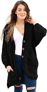 Cárdigan De Mujer Suéter de chenilla mujeres caídas / invierno chaqueta de terciopelo suelto europeo y americano cárdigan ...