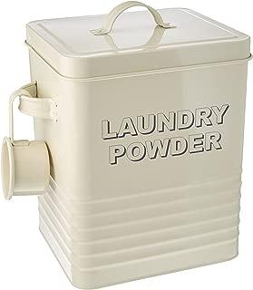 cream enamel laundry tin
