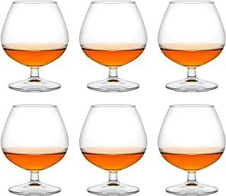 Libbey Lot de 6 verres à shot Venya Brandy - 250 ml / 25 cl - Verre à cognac - Passe au lave-vaisselle