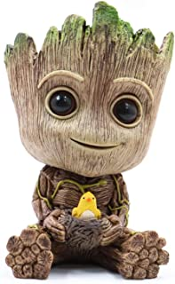 Groot Planter Pot Succulents Flowerpot Baby Groot Bird Nest Shaped Guardians of The Galaxy-Action Figure for Plants & Pens Holder, I AM Groot - Perfect Gift for Friends Kids Family