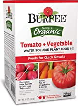 Burpee Organic Tomato and Vegetable Water Soluble Plant Food 6-2-3, 10 oz Box