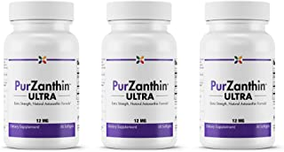 Stop Aging Now - PurZanthin Ultra Natural Astaxanthin 12 mg - Extra Strength Natural Astaxanthin Formula - 90 Softgels (3 Bottle Multi-Pack)