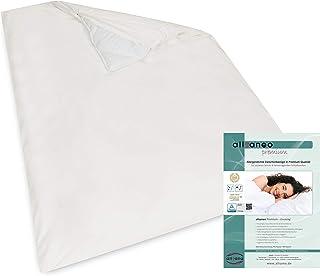 allsaneo Premium Encasing Deckenbezug 135x200 cm, Allergiker Bettwäsche extra weich und leicht, Anti-Milben Zwischenbezug für die Bettdecke