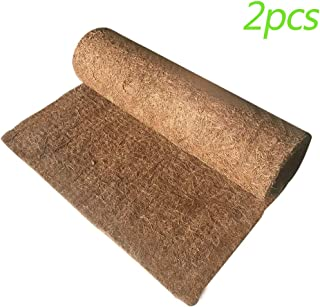 Hamiledyi 2Pcs Reptile Carpet Natural Coconut Fiber Carpet Mat for Pet Terrarium Liner Reptile Supplies for Lizard Snake Chamelon Turtle Bedding Bunny Rabbit Mat