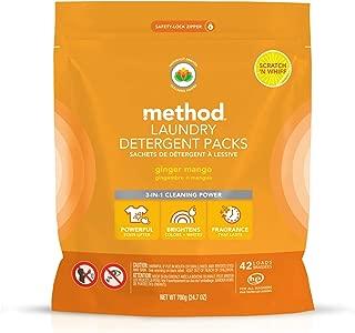 Method Laundry Detergent Packs, Ginger Mango, 42 Count