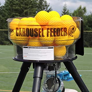 Jugs Carousel Feeder – Hitting on Your own has Never Been Easier. Holds 36 Baseballs or 18 softballs. Releases a Ball Every 6 Seconds. Use with Any Regulation Size and Weight Baseball or Softball.