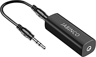 JABINCO Ground Loop Noise Isolator: for Car Audio/Home Stereo System with 3.5mm Audio Cable (Black)