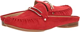 Coral Red Suede