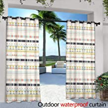 Lightly Outdoor- Free Standing Outdoor Privacy Curtain,Torrent La Hoegne in a Forest at The National Park in Belgium,W84 x L84 Outdoor Patio Curtains Waterproof with Grommets
