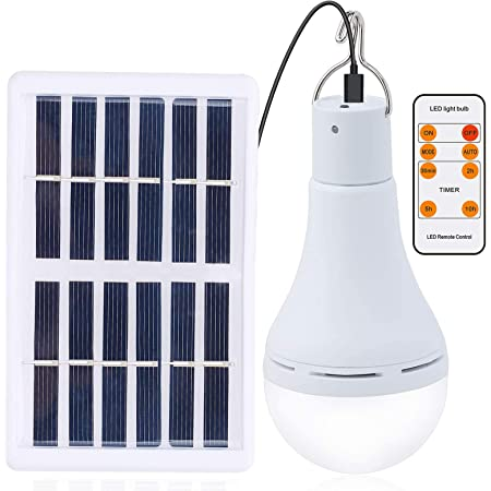 Light Bulb Tent Solar Powered LED Lamp Portable 3W Camping Hiking Outdoor USA