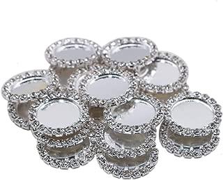JETEHO 20 Pcs 22mm Diamond Cameos Rhinestone Caps for Hair Bows Making DIY Pendants Craft Scrapbooks