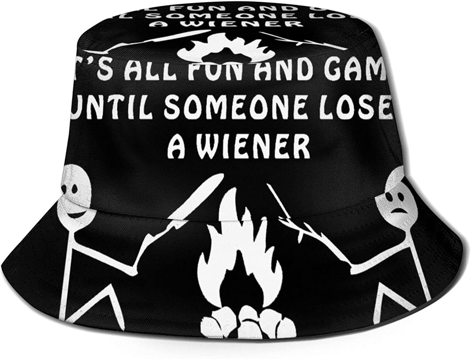 It's All Fun and Games Until Someone Loses Their Wiener Bucket Hat Unisex Sun Hat Summer Packable Fisherman Hats Black