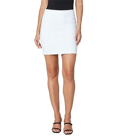 Liverpool 17 Pull-On Cat Eye Pocket Skirt in Bright White