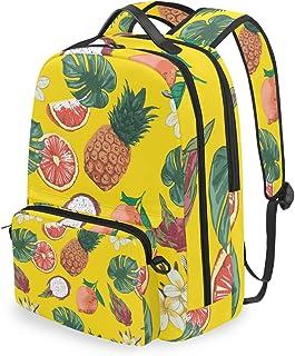 Mochila con bolsa cruzada desmontable, diseño de piña, para viaje, senderismo, acampada