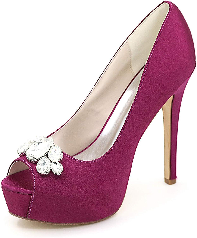 LLBubble Women High Heels Platform Bridal Pumps Peep Toe Formal Party Dress shoes 3128-01B