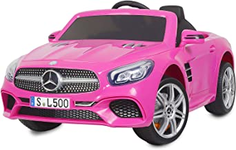 Uenjoy 12V Licensed Mercedes-Benz SL500 Kids Ride On Car Electric Cars Motorized Vehicles for Girls, with Remote Control, ...