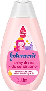 JOHNSON'S Toddler & Kids Conditioner - Shiny Drops, Formula Free of Parabens & Dyes, 300ml
