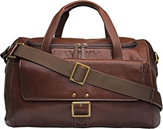 Hidesign Vespucci 04 Duffel Bag- Genuine Leather, Brown