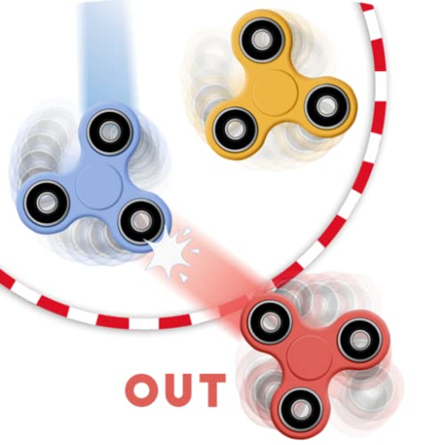 Fidget spinner: 4 players game