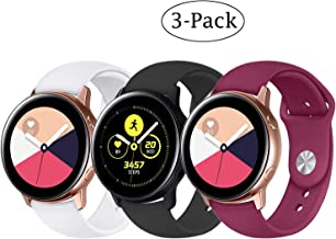 Fit Samsung Galaxy Watch (42mm)/ Galaxy Watch Active (40mm) Bands, 3Pack 20mm Quick Release Stylish Sport Silicone Bands S...
