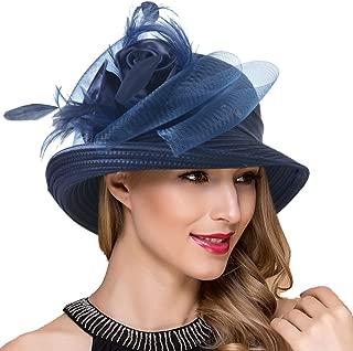 Women Kentucky Derby Church Dress Cloche Hat Fascinator Floral Tea Party Wedding Bucket Hat S052