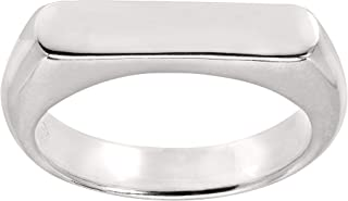 Big Idea' Flat Top Ring in Sterling Silver