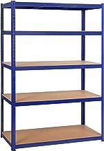 Yaheetech Rek voor zware lasten, 180 x 120 x 60 cm, opslagrek, 5 planken, metalen rek, max. belastbaarheid voor elk vak: 1...