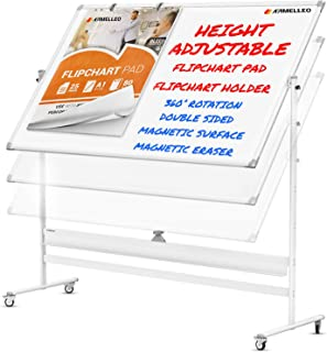 Mobile Whiteboard with Stand – Adjustable Height Dry Erase Board with Stand –..