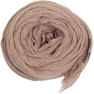 وشاح للنساء - شال طويل ناعم سادة من القطن بألوان نابضة بالحياة - أغطية رأس - من بيور كوليكشن