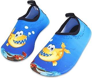 655d2edf4109 HMIYA Chaussures Aquatiques Enfants Filles Garçons Pieds Nus à séchage  Rapide Chaussures d'eau pour